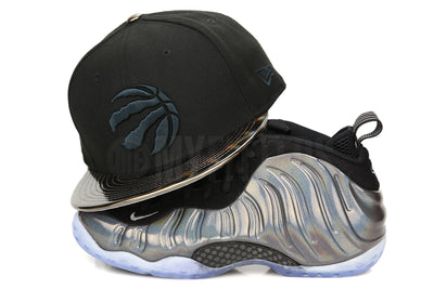 "Toronto Raptors Jet Black Hologram Visor Air Foamposite One ""Hologram"" New Era Snapback"