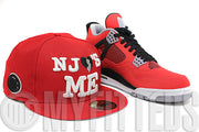 New Jersey NJ Loves Me Scarlet White Jet Black New Era Fitted Cap