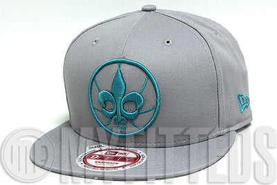 New Orleans 2014 NBA All Star Game Placid Grey Turquoise Glow In The Dark New Era Snapback