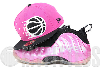 sneakers for cheap 3da0c 7df17 Orlando Magic Vibrant Pink Jet Black Polarized Pink Air Foamposite One  Matching New Era Hat