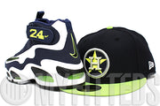 Houston Astros Midnight Navy Neon Green Metallic Silver MLB 59Fifty New Era Fitted Hat