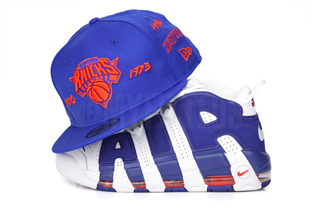 "New York Knicks Team Archive Collegiate Royal Air More Uptempo 96 ""The Dunk"" New Era Hat"