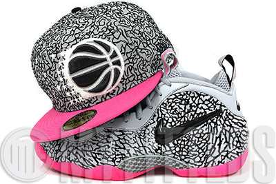 Orlando Magic Elephant Print Vibrant Pink Air Foamposite Pro Elephant Matching New Era Fitted Cap