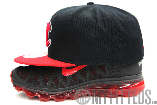 Champion Classic Jet Black Scarlet Chenille Scarlet Fitted Cap df57ccc6fbd2