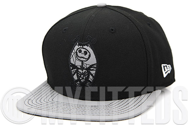 The Nightmare Before Christmas Reflect Vize Jack Skellington Crest Jet Black Reflect New Era Original Fit Snapback