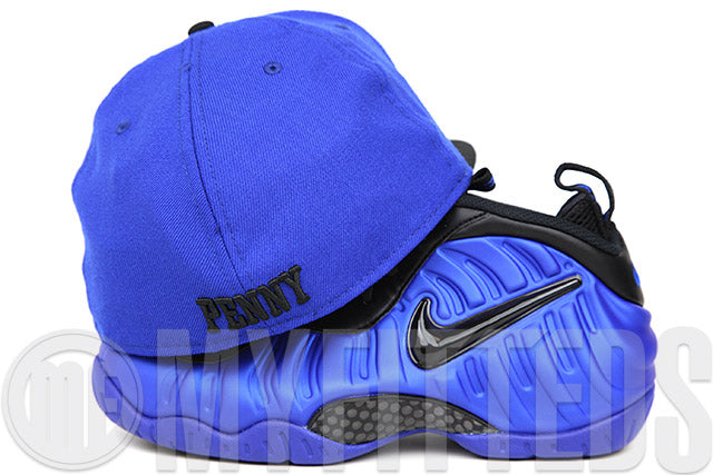 "Penny 1¢ One Cent Forza Azure Jet Black Air Foamposite Pro ""Ben Gordon"" New Era Hat"