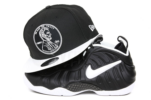 "PENNY 1¢ ONE CENT AIR FOAMPOSITE PRO ""DOCTOR DOOM"" MATCHING NEW ERA 9FIFTY SNAPBACK HAT"