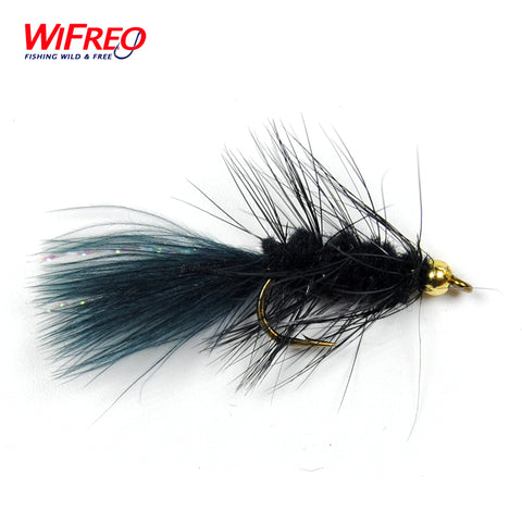 8# Black Woolly Bugger 10pc