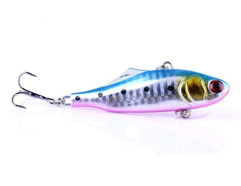 Highly Detailed 2.7in .84oz Hard Lure with 3D Eyes Blue