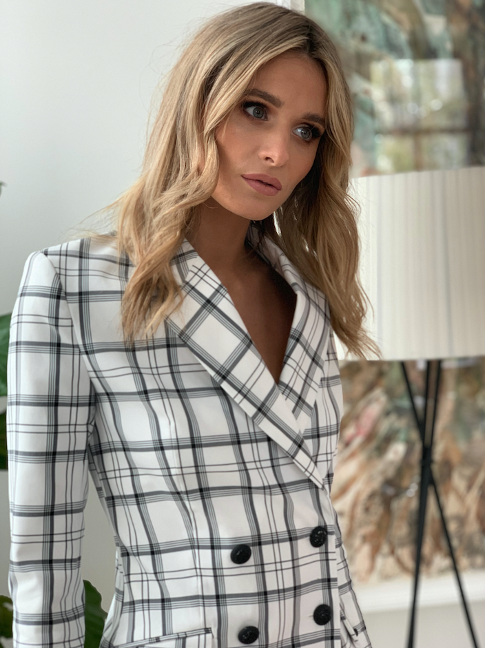 Wintercress Jacket - White Check
