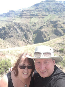 Cathryn & Michael at Hell's Canyon, USA