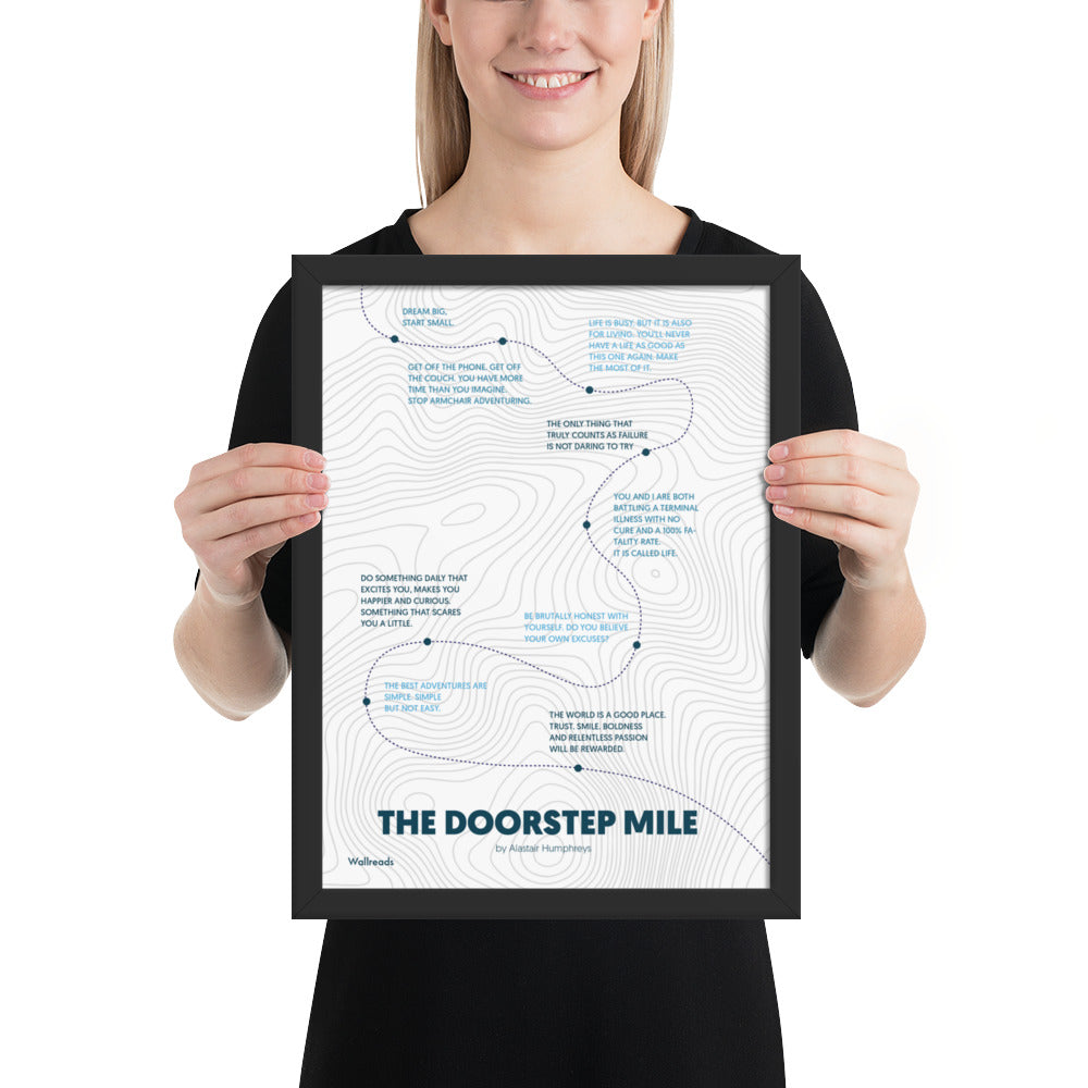 The Doorstep Mile - Quote Map (Framed)