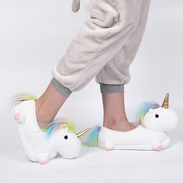Soft Plush Cute Unicorn Slippers   - Luxtrak