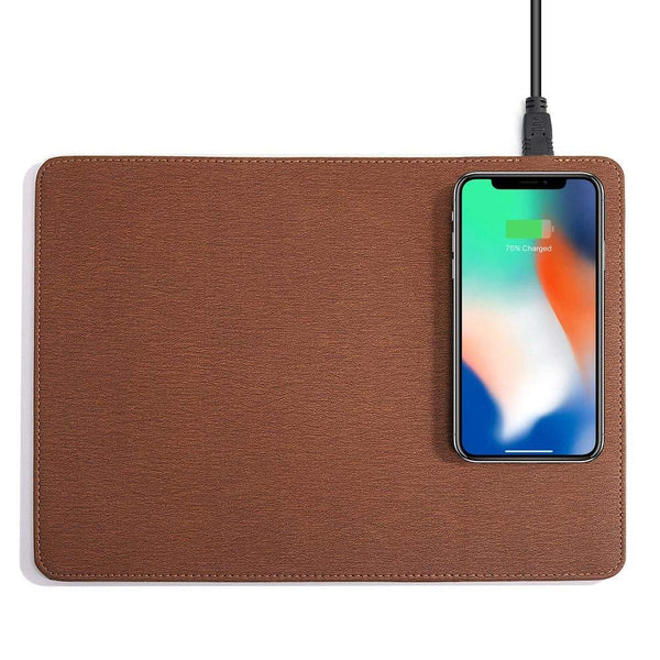Qi Wireless Charging Mouse Pad PU Leather   - Luxtrak