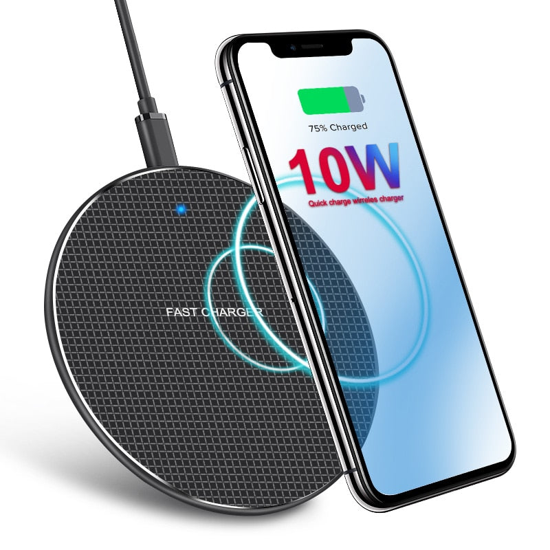 10W Qi Fast Charging Wireless Phone Charger   - Luxtrak