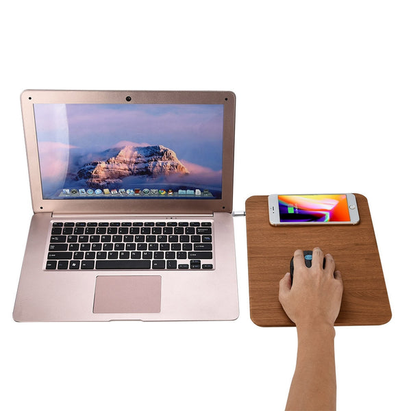 Wood Texture Qi Wireless Charger Mouse Pad   - Luxtrak
