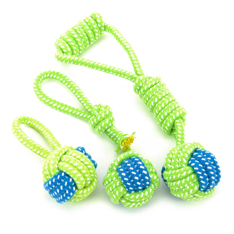 Dog Knotted Rope Ball Toy   - Luxtrak