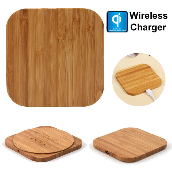 Qi Wireless Charger Slim Bamboo Wood   - Luxtrak