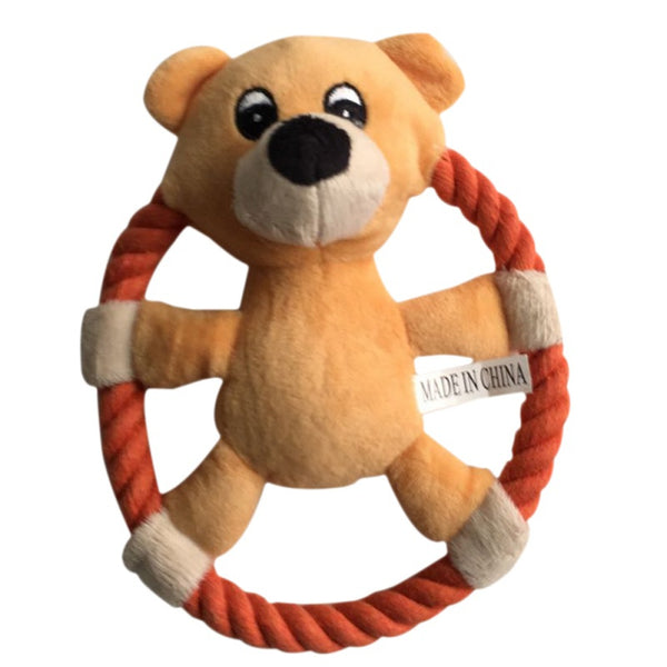 Plush Pet Dog Throwing Toy Teddy Worldwide - Luxtrak