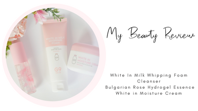 G9SKIN REVIEW: White In Milk Whipping Foam Cleanser, Bulgarian Rose Hydrogel Essence & White in Moisture Cream