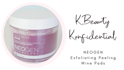NEOGEN Exfoliating Wine Face Pads - Review
