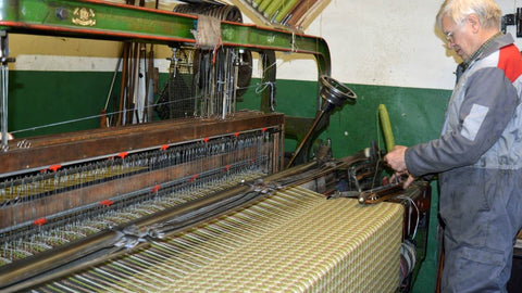 hand shuttle on the loom