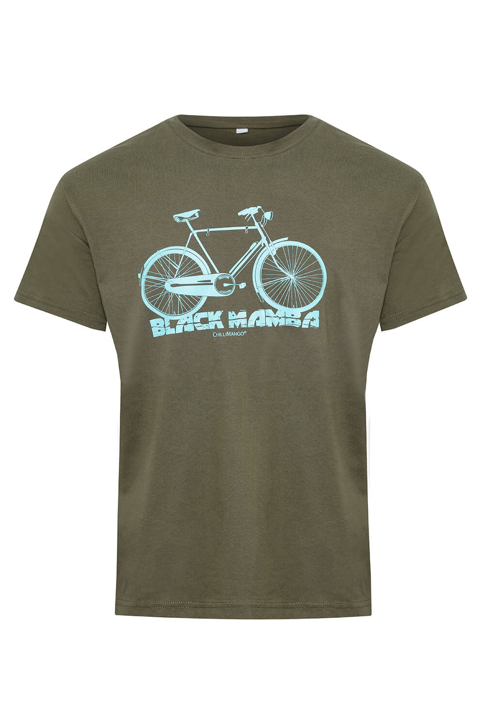 Men's cotton t-shirt black mamba bicycle logo