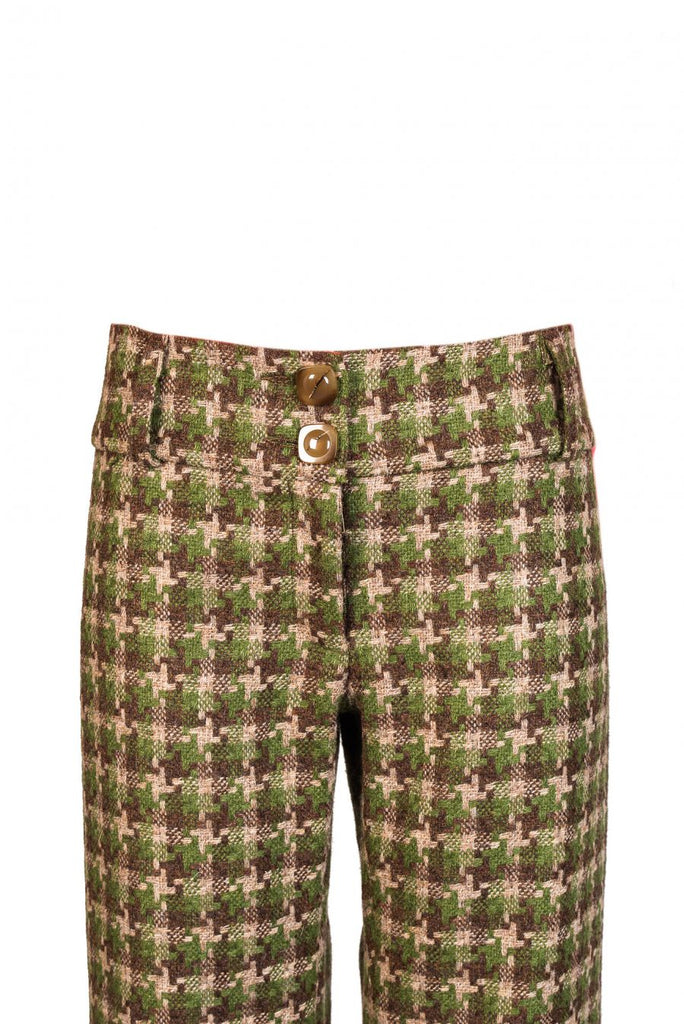Women's cammo tweed trousers