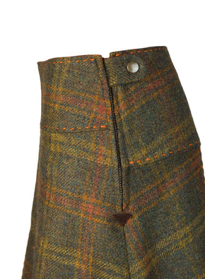 Tweed skirt box pleat Kingsley