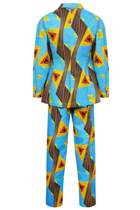 men's suit dutch wax cotton