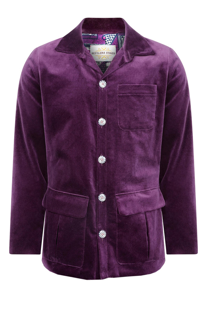 men's purple velvet jacket