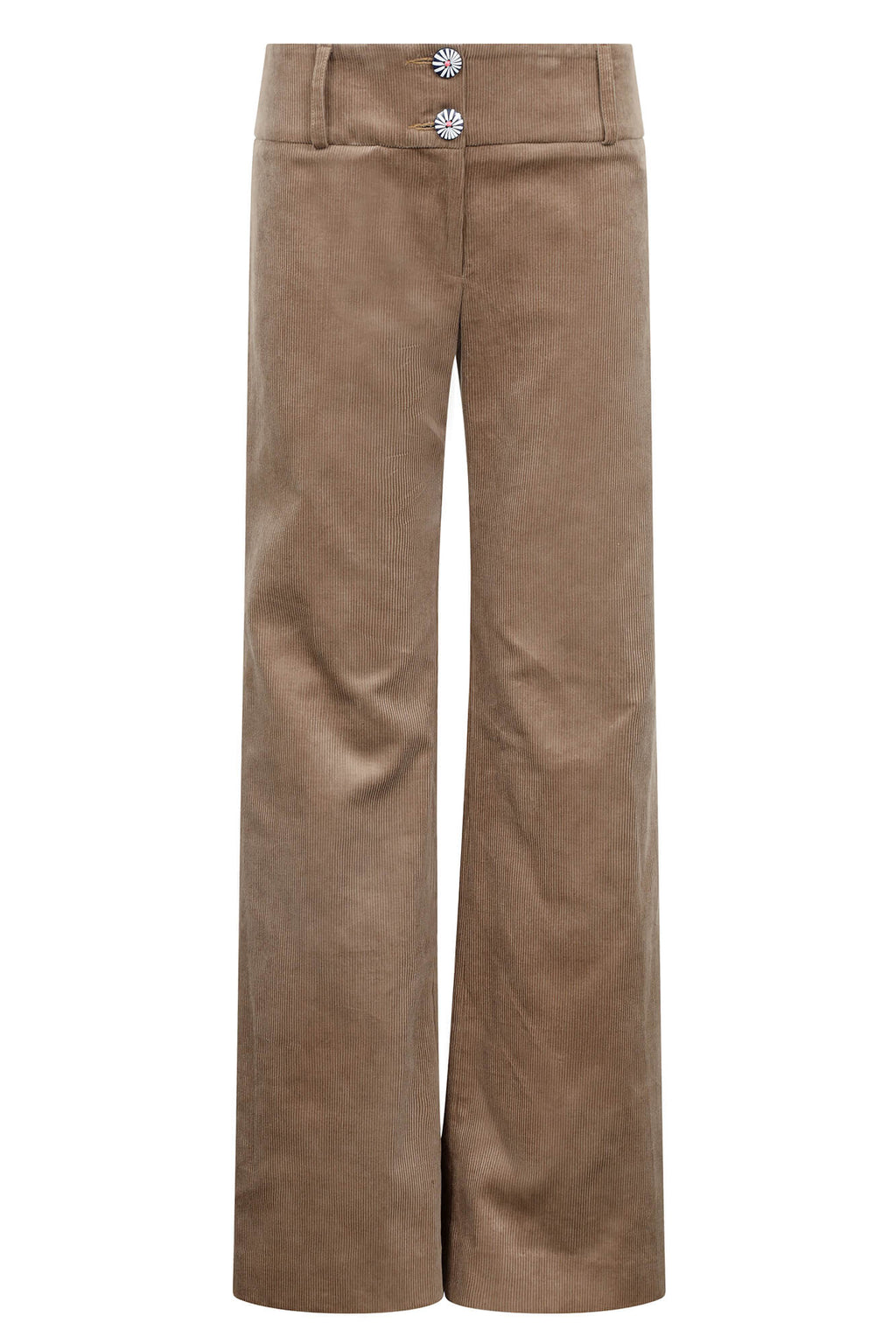Women's cord trousers sand