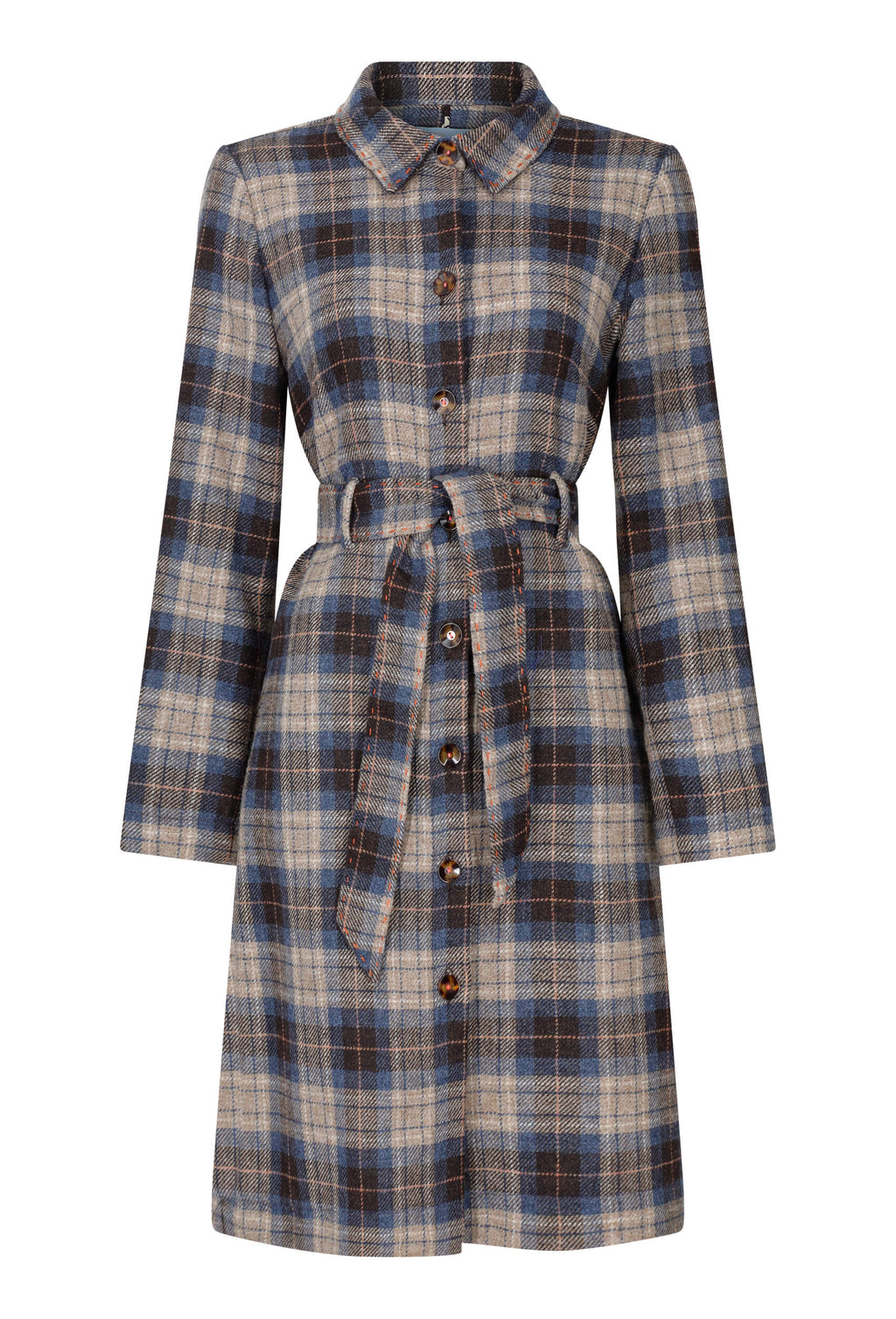 lightweight-blue-check-tweed-coat-dress