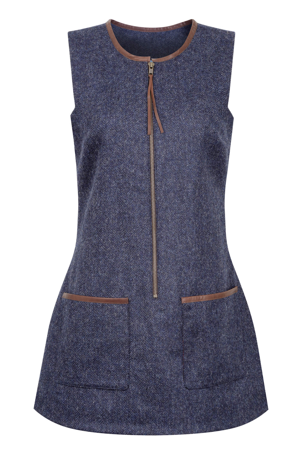 indigo-blue-tweed-tunic-dress