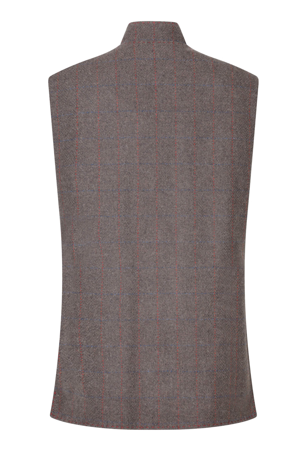Brown-check-tweed-gilet