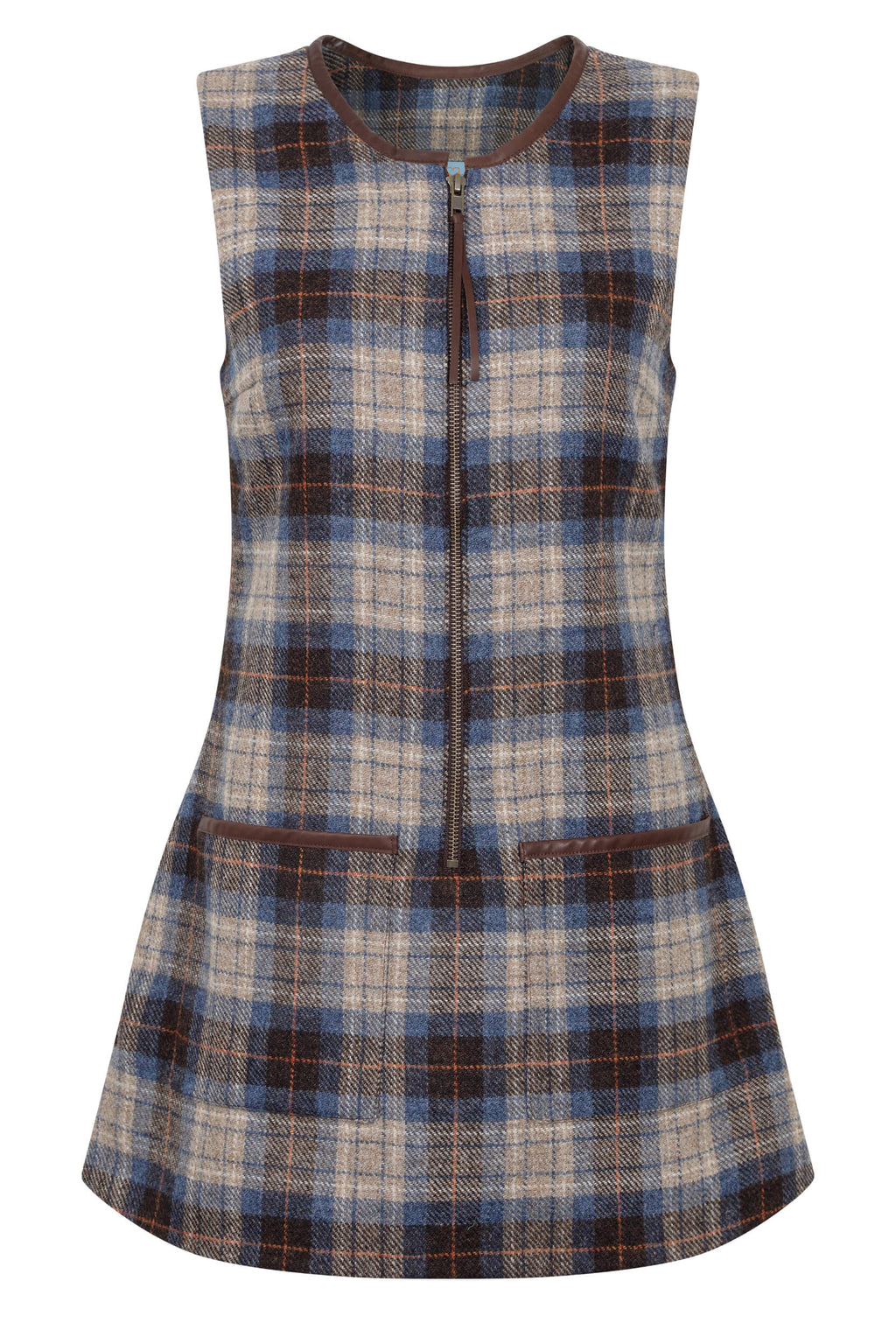 blue-check-tweed-tunic-dress