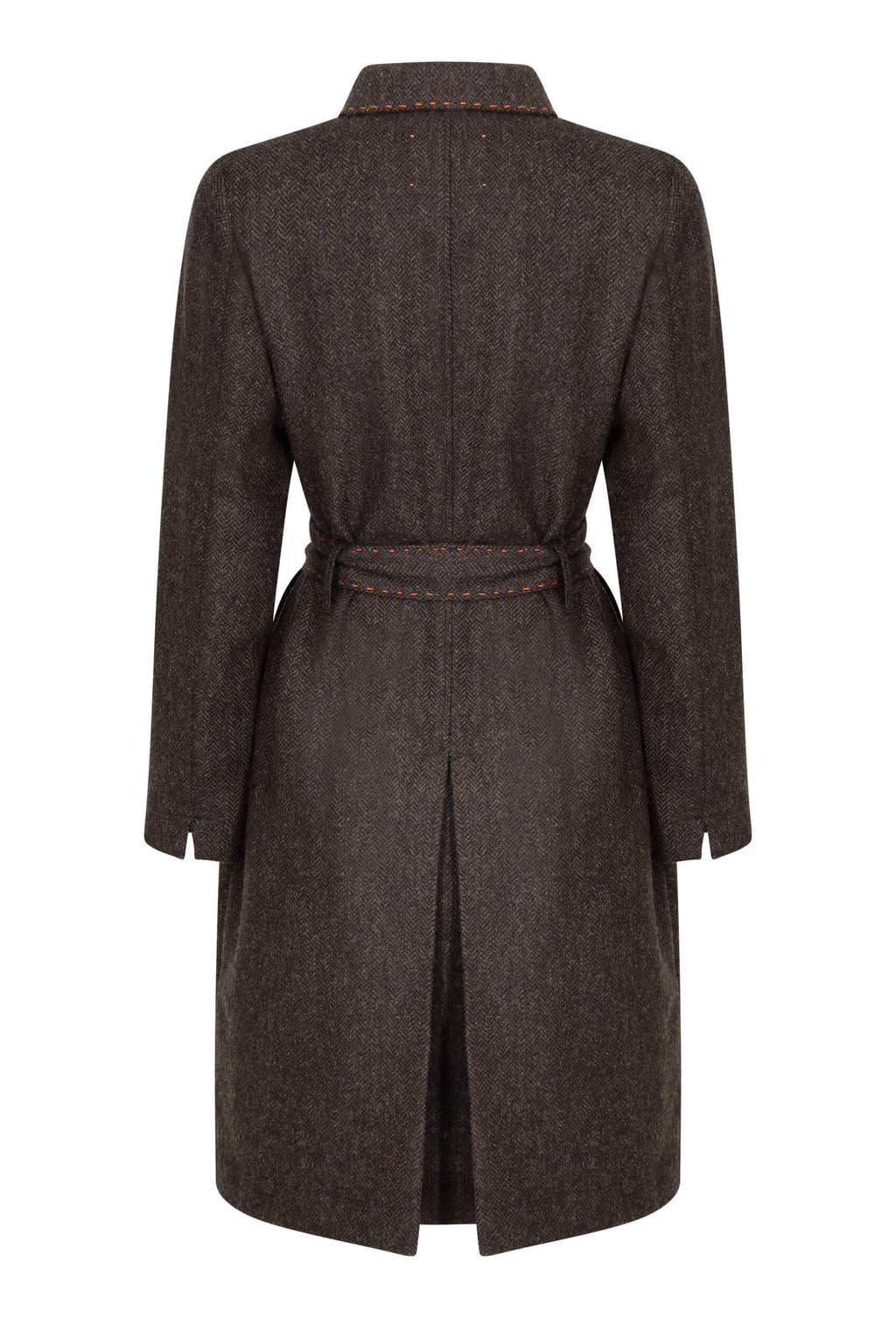 chocolate-brown-herringbone-tweed-coat-dress-made-in-britain-back
