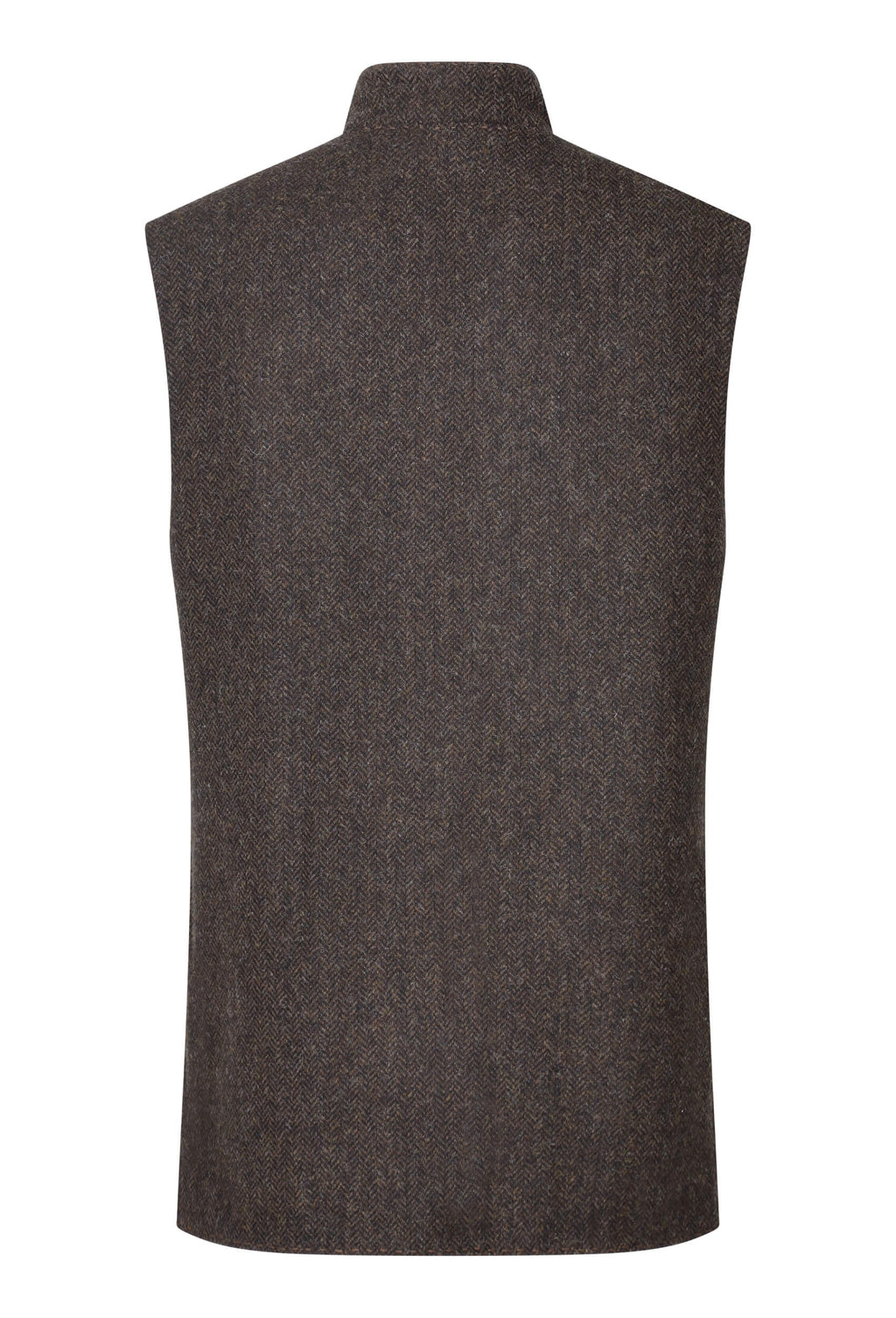 chocolate-brown-herringbone-tweed-gilet-made-in-england