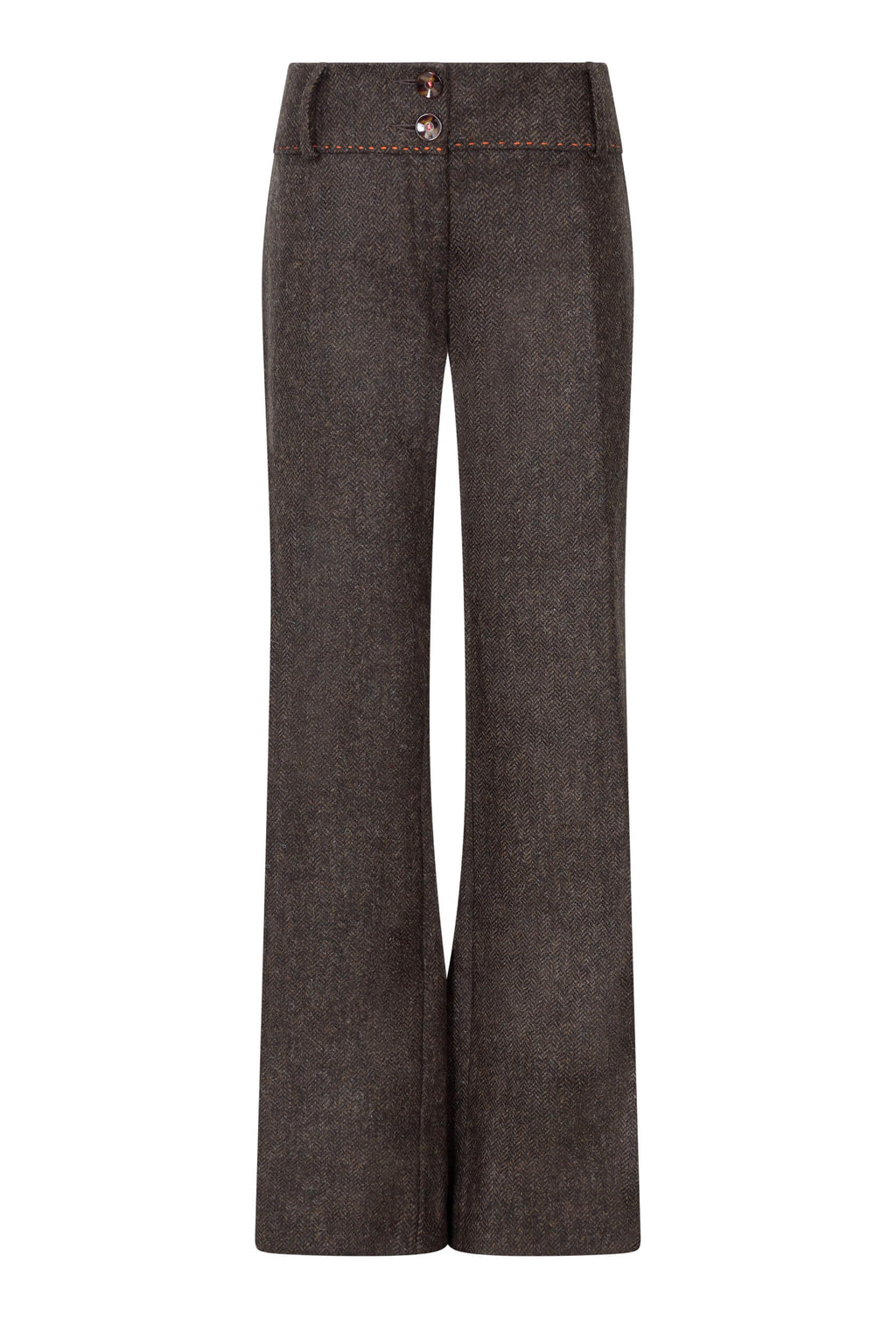 chocolate-brown-herringbone-tweed-trousers-womens