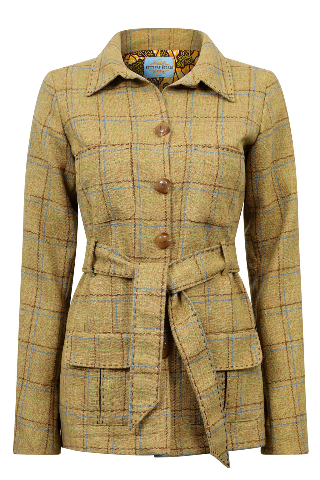 mustard-check-tweed-safari-jacket-womens