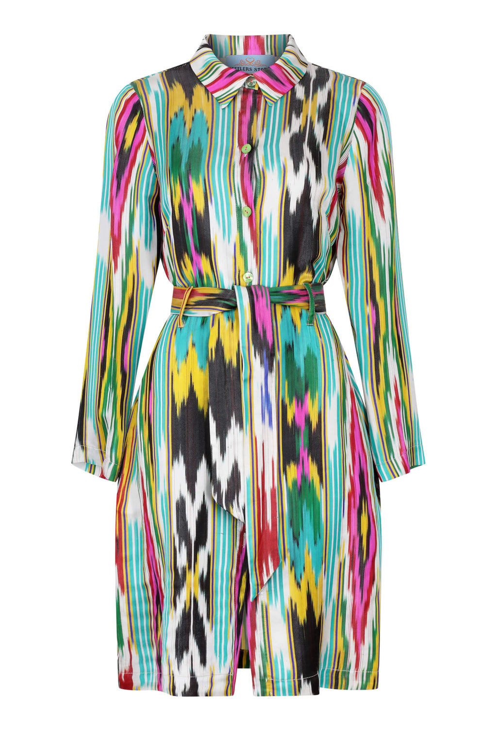 silk-ikat-shirt-dress-white