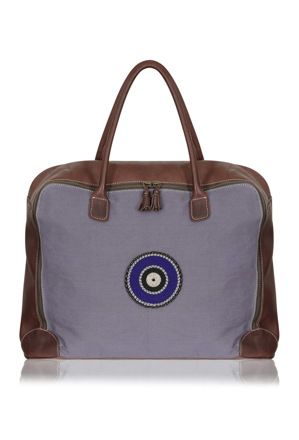 slate-grey-canvas-luggage-leather-suitcase