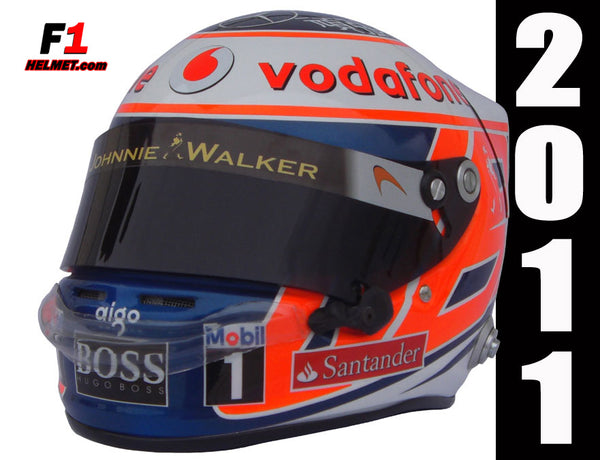 "Jenson Button 2011 ""Support Japan"" Helmet / Mc Laren F1 - www.F1Helmet.com"
