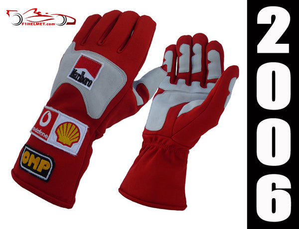 Michael Schumacher 2006 Replica racing gloves / Ferrari F1 - www.F1Helmet.com