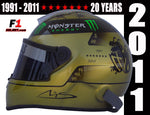 Michael Schumacher 2011 / Commemorative 20 Years - www.F1Helmet.com