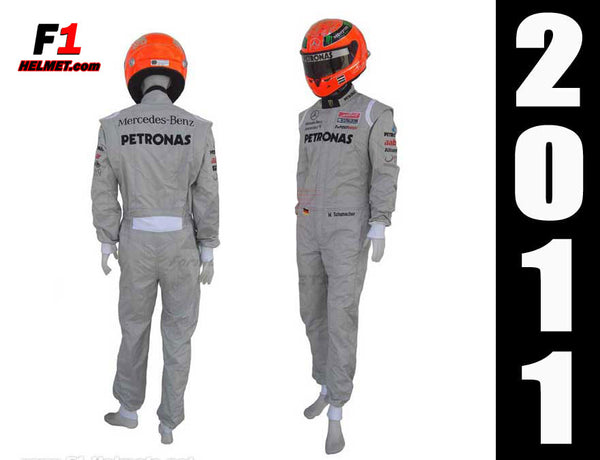 Michael Schumacher 2011  Replica racing suit / Mercedes Benz F1 - www.F1Helmet.com