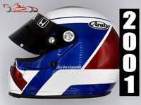 Jos Verstappen 2001 Replica Helmet / Orange Arrows F1
