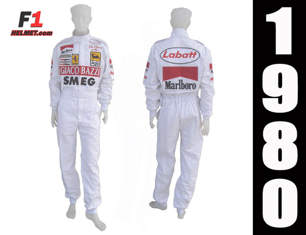 Gilles Villeneuve 1980 Replica racing suit / Ferrari F1