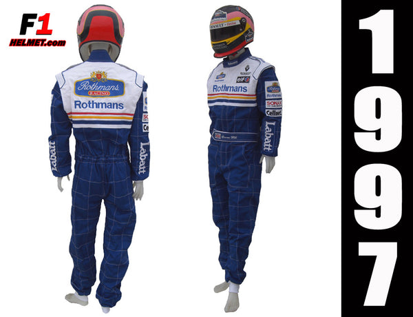 Damon Hill 1997 Replica racing suit / Williams F1 - www.F1Helmet.com