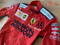 Leclerc 2020 Mission Winnow Replica racing suit / Ferrari F1